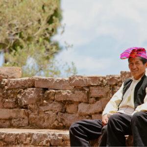 Peru, Puno- Taquile boys