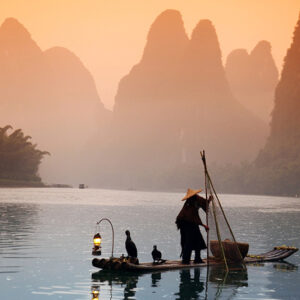 China, Guilin - Fisherman with Cormorant 2