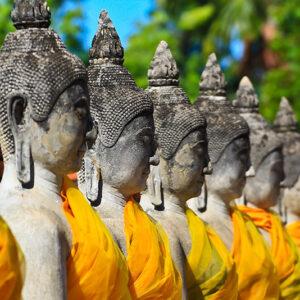 Thailand, Ayuthaya - old Temple Wat Yai Chai Mongkhon of Ayuthaya Province Thailand